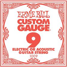 1009 Plain Single Steel String .009 : Ernie Ball