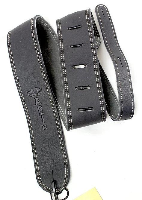 Ball Glove Leather Guitar Strap - Black : Martin