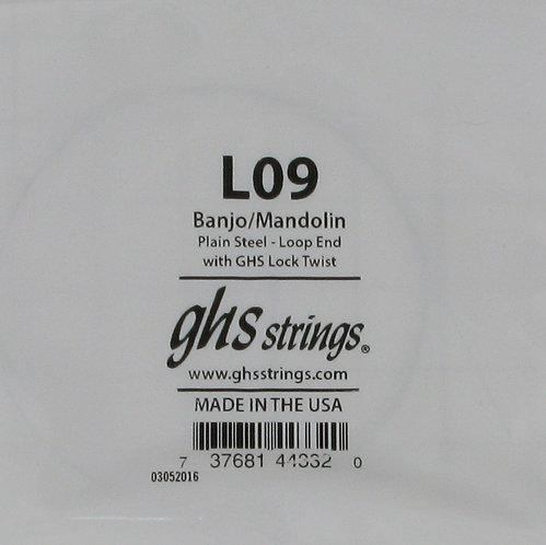 D'addario : Loop end Banjo/Mandolin string .009