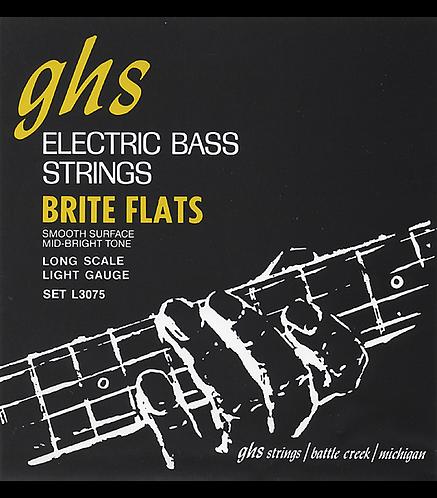Brite Flats Flatwound Bass Strings : GHS