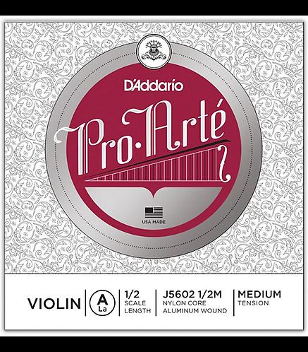 Pro-Arte Series Violin A String  1/2 Size - D'addario