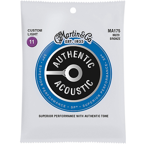 Acoustic Superior Performance Guitar Strings - 80/20 Bronze Extra Light : Martin