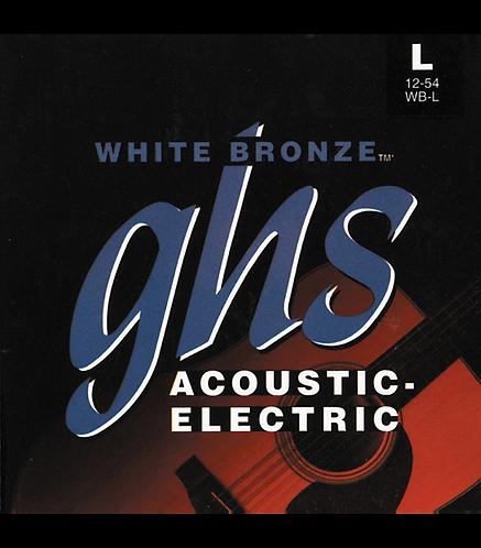WBL White Bronze - Alloy 52 Light Acoustic Guitar Strings : GHS
