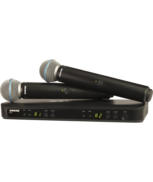 BLX288/B58 Wireless Dual Vocal System with two Beta 58A Handheld - H10 : Shure