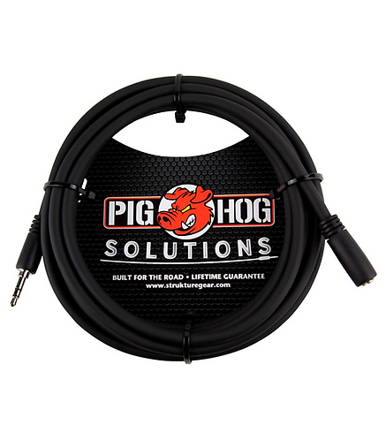 10ft 3.5mm Headphone Extension Cable : Pig Hog