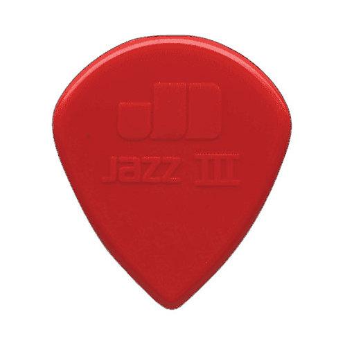 Red Jazz III Pick XL Nylon (each) : Dunlop