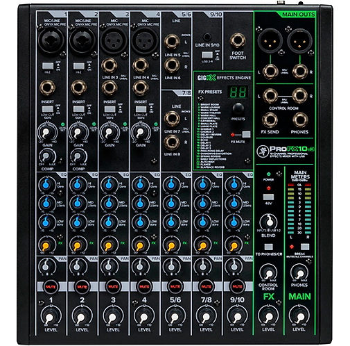 Mackie : ProFX10v3 10-Channel Professional Effects Mixer with USB