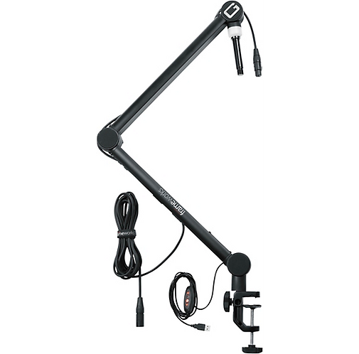 Gator : Professional Broadcast Boom Mic Stand With LED Light