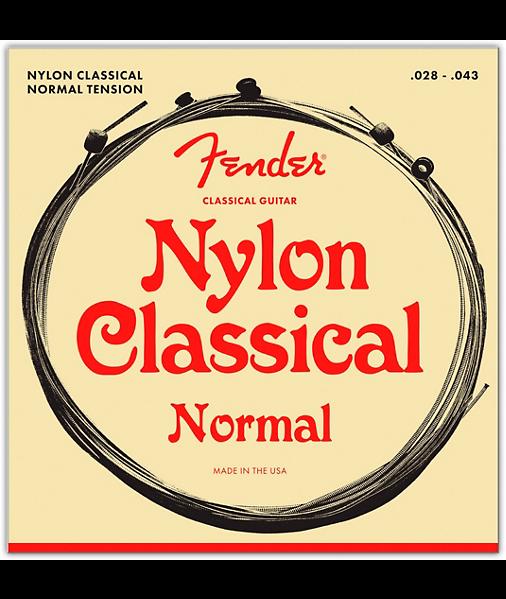 Clear/Silver Classical Nylon Guitar Strings - Ball End - Fender