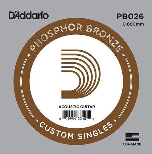Phosphor Bronze Single String (.026) - D'addario