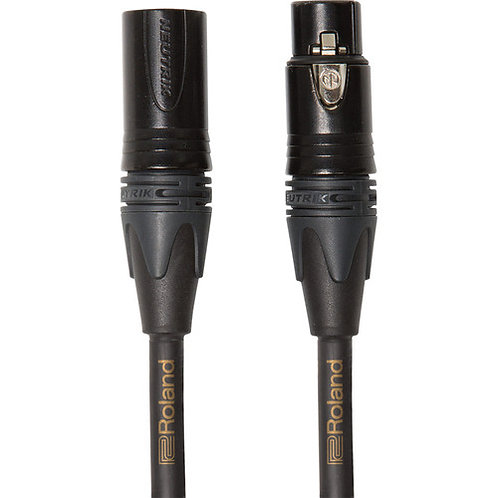 50ft XLR Microphone Cable Gold Series : Roland