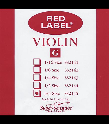 Red Label Violin G String  3/4 - Supersensitive