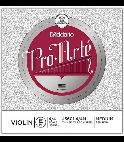 Pro-Arte Series Violin E String  4/4 Size Medium - D'addario