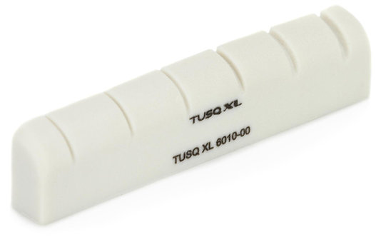 "Graph Tech : TUSQ XL Gibson (electric) Style Slotted Nut 1-3/4"" Long x 3/16"" Wid"