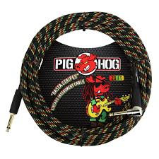 20ft Instrument Cable Right Angle Rasta Strips : PigHog