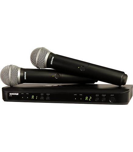 BLX288/PG58 Dual-Channel Wireless System with Two PG58 Handheld : Shure