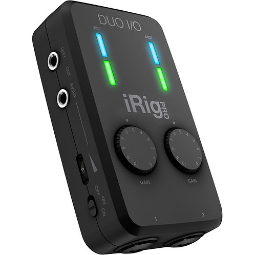 IK Media : iRig Pro Duo I/O 2-Channel Audio/MIDI Interface for Mobile Devices