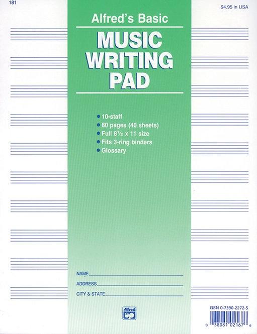 Alfred : Basic Music Writing Pad
