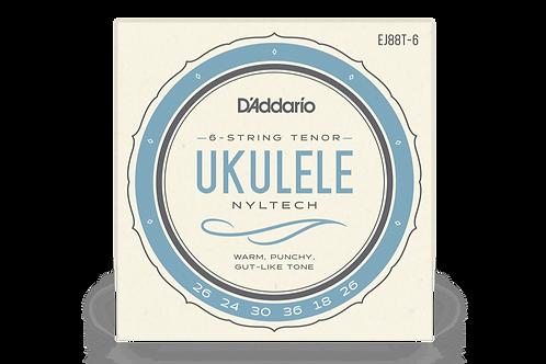 EJ88T-6 Nyltech 6-String Tenor Ukulele Strings - D'addario