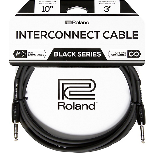 "10ft 1/4"" TRS - 1/4"" TRS Balanced Interconnect Cable : Roland"