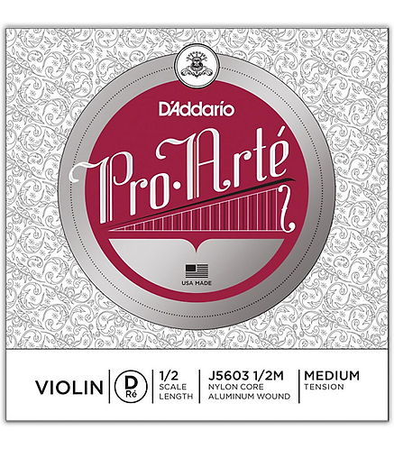 Pro-Arte Series Violin D String  1/2 Size J5603-4/4M - D'addario
