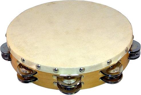 TH-200 10-Inch Tambourine with Head - Suzuki
