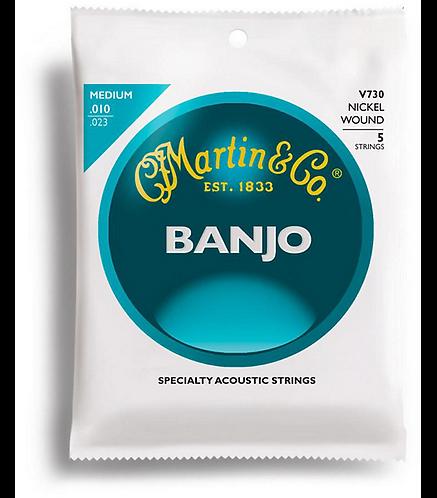 V730 Nickel Wound Vega Banjo Strings - Medium : Martin