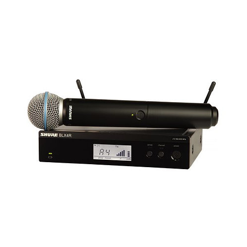 BLX24R/B58 Wireless Vocal Rack-mount Set with Beta 58A : Shure