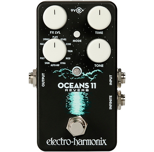 Electro-Harmonix : Oceans 11 Multifunction Digital Reverb Effects Pedal