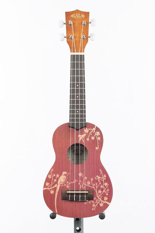 KA-HI-CHERRY-C Concert Mahogany Ukulele with Cherry Blossom Design - Kala