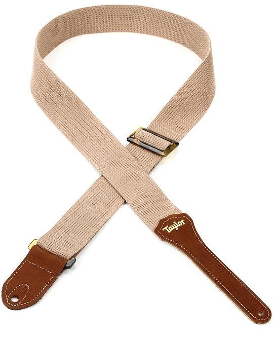 """Taylor : GS Mini Cotton 2"""" Guitar Strap - Tan"""