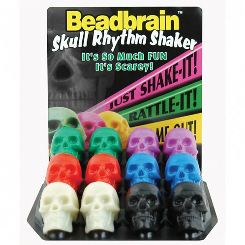 BeadBrain : Skull Shakers, Assorted  Colors (Sold individually)