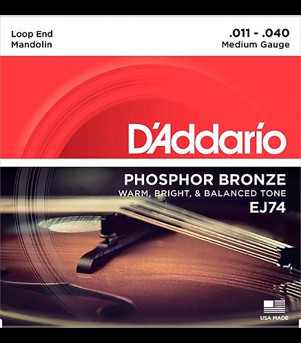 EJ74 Phosphor Bronze Medium Mandolin Strings (11-40) - D'addario