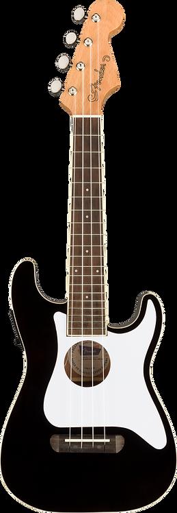 Fullerton Stratocaster Concert Ukulele - Black - Fender