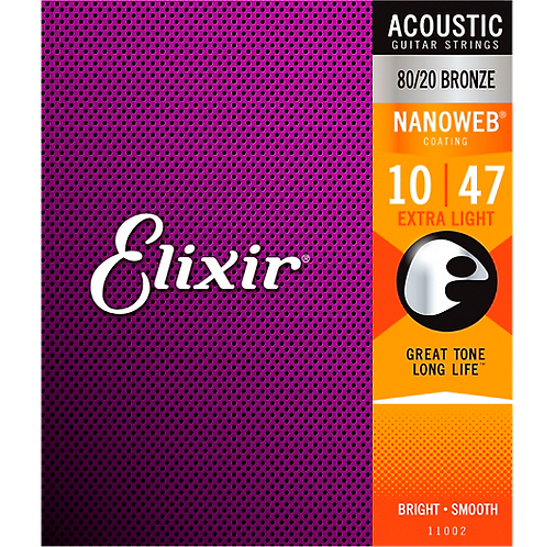 Elixir : 80/20 Bronze NANOWEB  - Extra Light