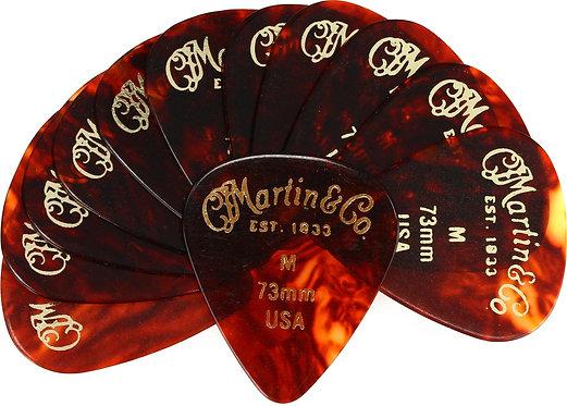 Faux-tortoise #1 Guitar Picks 12 Pack - 0.73mm - Medium : Martin