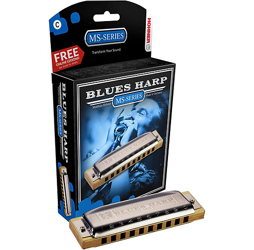 Hohner : 532 Blues Harp MS-Series Harmonica  A
