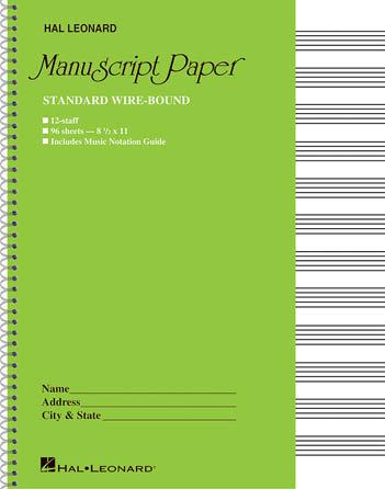 Standard Wirebound Manuscript Paper : Hal Leonard