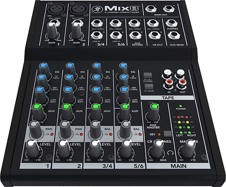 Mix8 8-channel Compact Mixer : Mackie