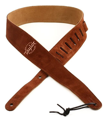 Suede Guitar Strap - Chocolate Brown - Taylor