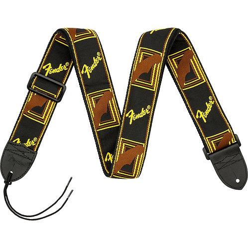 099-0681-000 Monogrammed Brown Guitar Strap - Fender