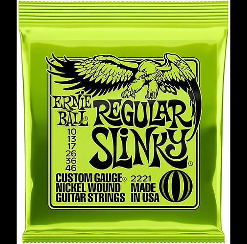 2221 Regular Slinky Nickel Wound Electric Guitar Strings - .010-.04 : Ernie Ball