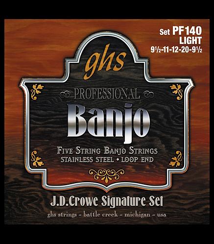 J. D. Crowe Studio Signature 5-String Banjo Strings - Light : GHS