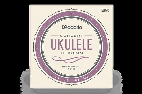 EJ87C Titanium Concert Ukulele Strings - D'addario