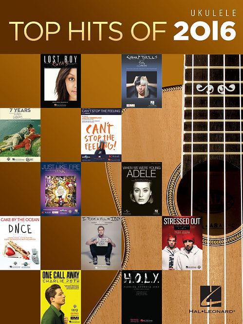 Hal Leonard : Top Hits of 2016 for Ukulele