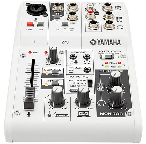 AG03 3-Channel Mixer/USB Interface For IOS/MAC/PC - Yamaha