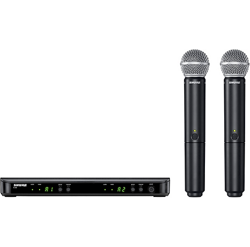 BLX288/SM58 Wireless Dual Vocal System with SM58 : Shure