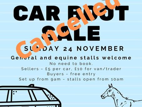 Car Boot Sale - 24 November