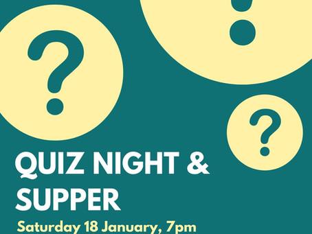 Quiz Night & Supper
