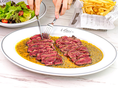 Dine-in with our special Cafe de Paris Steak & Wine offer